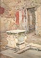 House with impluvium and marble table in Pompeii by Luigi Bazzani.jpg