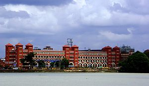 Howrah Junction railway station - Howrah Station, view from Hooghly River