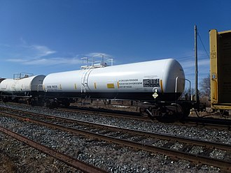Hydrogen peroxide - A tank car designed for transporting hydrogen peroxide by rail