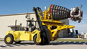 Hyster H550-700 carrying Space Shuttle Main Engine.jpg