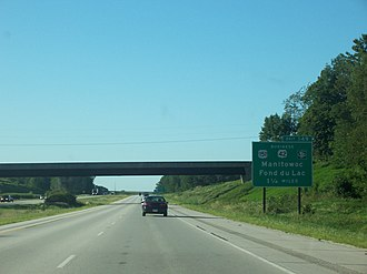 U.S. Route 141 - I-43 near Manitowoc, originally part of US 141
