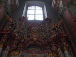 IHS and the God's eye. Altar of Immaculata. Church of Saint Francis. Listed ID 41. - Budapest.JPG