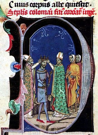 Stephen II of Hungary - Stephen is crowned king in February 1116 (from the Illuminated Chronicle)