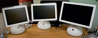 IMac G4 - 15 inch, 17 inch, and 20 inch versions of the iMac G4.
