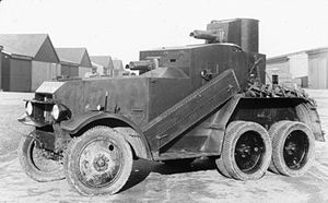 Anglo-Iraqi War - Crossley six-wheeled armoured car