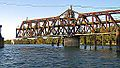 I Street Bridge swing span turning - view from river (2011).jpg