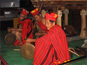 An Ifugao native playing instrument