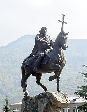 Ashot II of Armenia - A statue of Ashot II in Ijevan.
