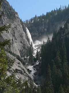 Illilouette Falls Waterfall in Yosemite National Park, California