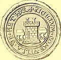 "Image from page 125 of ""Annals and antiquities of the counties and county families of Wales"" (1872) – Seal of Neath.jpg"