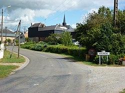 Inaumont (Ardennes) city limit sign.JPG
