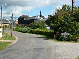 Inaumont (Ardennes) city limit sign.JPG