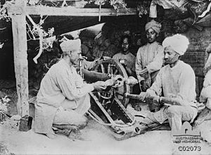 Indian 10 pounder mountain gun and crew Gallipoli AWM C02073.jpg