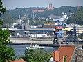 Industriehafen mit der Marineschule Mürwik im Hintergrund (Flensburg Mai 2016), Bild 02.jpg