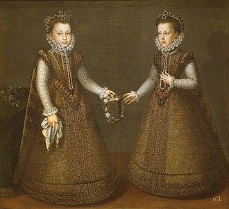 Alonso Sánchez Coello - Infantas Isabella Clara Eugenia and Catalina Micaela