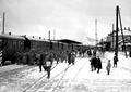 Infanterie steigt in Eisenbahnwagen ein - CH-BAR - 3238293.tif
