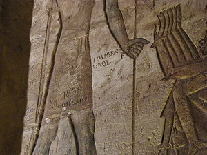 Jakob Philipp Fallmerayer - Inscription from Jakob Philipp Fallmerayer inside the Great Temple of Ramses II, Abu Simbel, Egypt