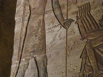 Jakob Philipp Fallmerayer - Inscription from Jakob Philipp Fallmerayer inside the Great Temple of Ramses II, Abu Simbel, Egypt