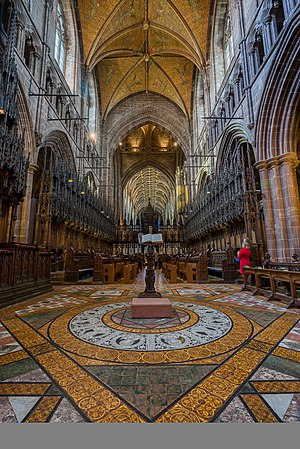 Chester Cathedral - The nave and wooden roof