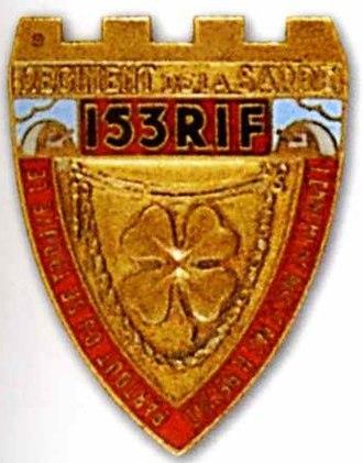 Fortified Sector of Rohrbach - Image: Insigne régimentaire du 153e régiment d'infanterie de forteresse (1939)
