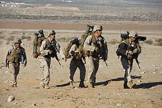 Mk 153 Shoulder-Launched Multipurpose Assault Weapon (SMAW) - Image: Integrated Task Force Weapons Company Marines conduct offensive operations pilot test at Twentynine Palms 150302 M DU612 011