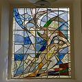 Interieur, overzicht glas-in-loodraam in de zuidgevel - Loosduinen - 20357879 - RCE.jpg