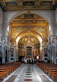 Interior of Basilica di Santa Prassede, Rome.JPG