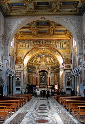 Interior of the Basilica di Sante Prassede, Ro...