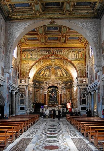 File:Interior of Basilica di Santa Prassede, Rome.JPG