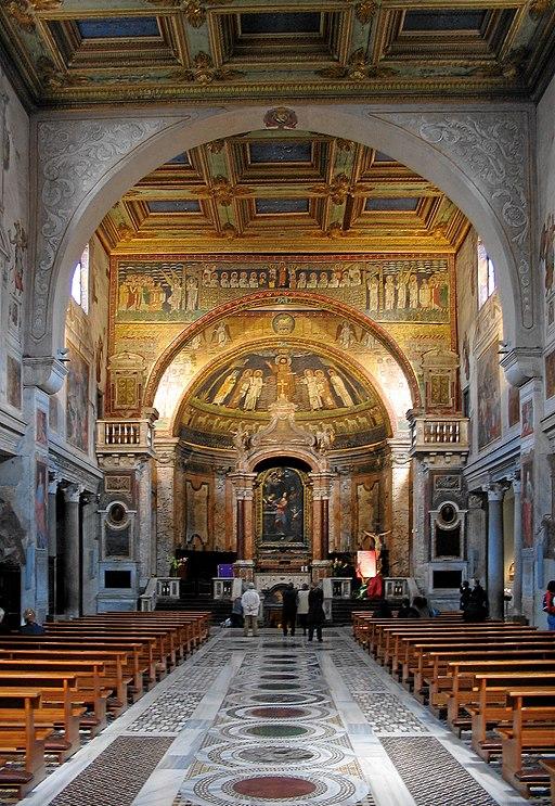 Interior of Basilica di Santa Prassede, Rome
