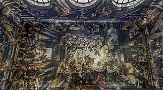 San Pantalon - Image: Interior of San Pantaleone (Venice) The Martyrdom and Apotheosis of St Pantalon Gian Antonio Fumiani