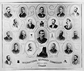 James J. McArthur - International Boundary Commission 1893 - 1895 Canada. McArthur is in the second row from the top, third from the left.