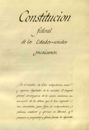 Original page of the preamble of the Federal C...