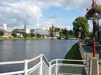 Scottish Highlands - Inverness, the administrative centre and traditional capital of the Highlands