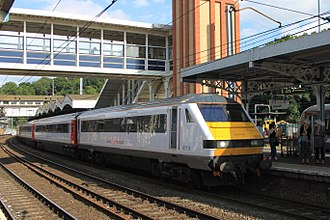 Abellio (transport company) - Abellio Greater Anglia train at Ipswich station in June 2014