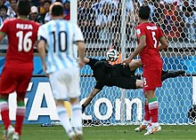 0b8ebbdefc Messi watches his 25 yard curling strike hit the net against Iran to win  the game for Argentina in their second group game at the 2014 FIFA World Cup