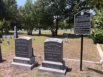 Isaac Brown - Image: Isaac N. Brown Burial Location and Markers