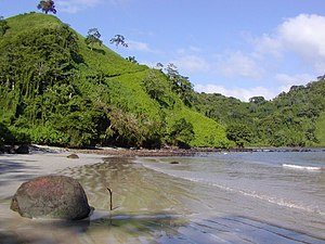 Water resources management in Costa Rica - Chatham beach on Cocos Island.