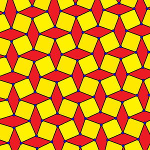 Square tiling - An isogonal variation with two types of faces