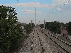Istanbul–Ankara railway - The line running near Körfez.