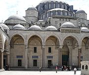 Süleymaniye Mosque in Istanbul, built by Mimar Sinan, Suleiman's chief architect