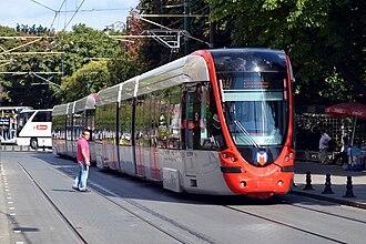 Istanbul Tram - Alstom Citadis tram