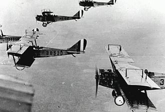 Kelly Field Annex - Curtiss JN-4 Jennys training at Kelly Field 1918
