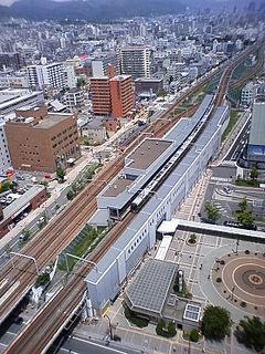 Shin-Nagata Station Railway and metro station in Kobe, Japan