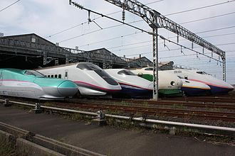 Kawasaki Heavy Industries - Lineup of JR East Shinkansen trains, October 2009