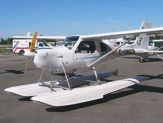 Ultralight aircraft (Canada) - Jabiru Calypso 3300 advanced ultralight aircraft on amphibious floats at the Canadian Aviation Expo
