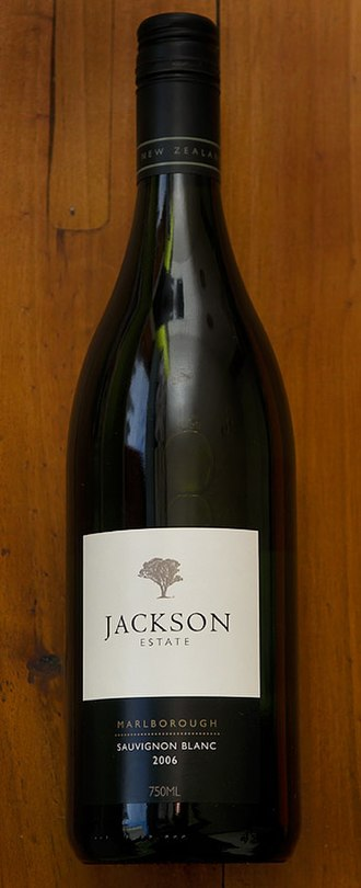 Alcohol in New Zealand - A bottle of Jackson Estate sauvignon blanc from New Zealand