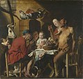 Jacob Jordaens - Satyr at the Peasant's House - WGA12002.jpg