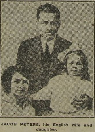 Yakov Peters - Jacob Peters and English family taken ca October 1918