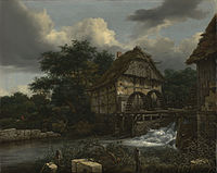 Jacob van Ruisdael - Two Watermills and an Open Sluice - 82.PA.18 - J. Paul Getty Museum.jpg